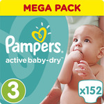Pampers Active Baby Dry No3 (5-9kg) 152τμχ