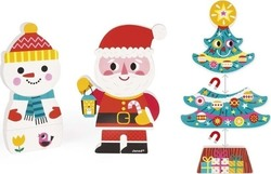 Santa and His Friends Funny Magnets 9pcs (08033) Janod