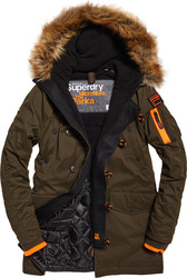 Superdry Παρκά SD-3 Parka Jacket Χακί Με Επένδυση & Γούνα στην Κουκούλα