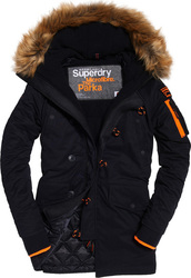 Superdry Παρκά SD-3 Parka Jacket Σκούρο Μπλε Με Επένδυση & Γούνα στην Κουκούλα