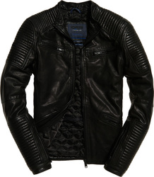Superdry IE Iconic Leather Racer Black