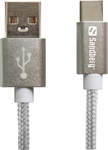 Sandberg Braided USB 2.0 Cable USB-C male - USB-A male Γκρι 1m (480-16)