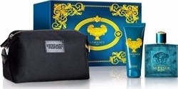 Versace Eros Eau de Toilette 100ml, Shower Gel 100ml & Vanity Bag