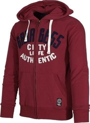 GARAGE FIFTY5 MEN ZIP HOODED - G14-6214-BRICK