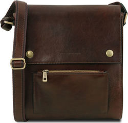 Leather Touch Oliver TL141656 Dark Brown