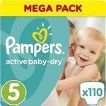 Pampers Active Baby Dry No5 (11-18kg) 110τμχ