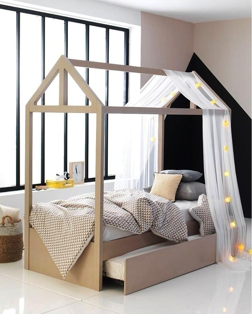 791f1516450 Little House Κουκέτα Μπεζ με Συρόμενο Κρεβάτι