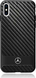 Mercedes Hard Back Cover Carbon Μαύρο (iPhone X)