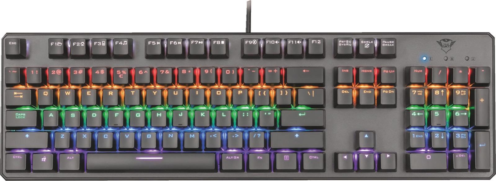 Trust GXT 865 Asta Mechanical Keyboard - USB (22630) - Πληρωμή και σε έως 36 Δόσεις!!!