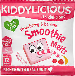 Kiddylicious Strawberry & Banana Smoothie Melts 6gr