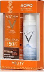 Vichy Ideal Soleil Anti Spot 3 in 1 SPF50+ & Eau Thermale Spring Water