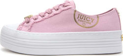 JUICY COUTURE SNEAKERS ZANDRA HEAVY CANVAS ΓΥΝΑΙΚΕΙΑ JUICY COUTURE ΡΟΖ (JB158-DPK)