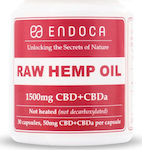 Endoca CBD Hemp Oil Raw 1500mg of CBD + CBDa 30 κάψουλες