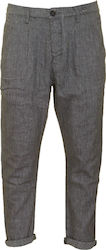 GABBA M FIRENZE K2238 LINEN PANTS - 2170120594-BLACK GREY