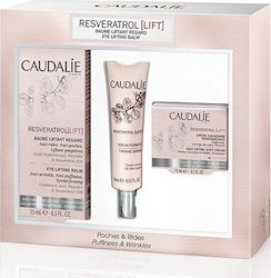 Caudalie Resveratrol Eye Lifting Balm & Firming Serum & Face Lifting Soft Cream