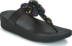 Σαγιονάρες FitFlop HONEYBEE JEWELLED TOE THONG SANDALS