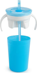 Munchkin Snack Catch & Sip 2 in 1 Snack Catcher and Spill Proof Cup Blue