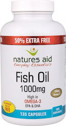 Natures Aid Fish Oil 1000mg 135 κάψουλες