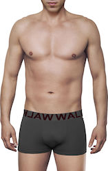 MEN'S BOXER BAMBOO BRIEF WITH EXTERNAL WAISTBAND ΓΚΡΙ ΣΚ.- ΓΚΡΙ ΣΚ. - W1770