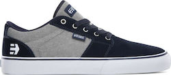 ETNIES BARGE LS SHOES NAVY/GREY/SILVER