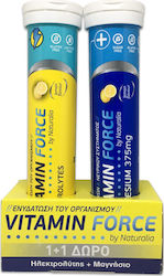 Naturalia Vitamin Force Electrolytes & Magnesium 375mg 20 + 15 αναβράζοντα δισκία