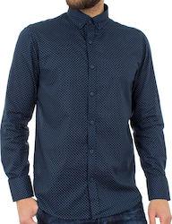 Προσθήκη στα αγαπημένα menu Ανδρικό Μακρυμάνικο Πουκάμισο Regular Fit Oxford  Shirt DOUBLE GS-464 Navy c2f164e069d
