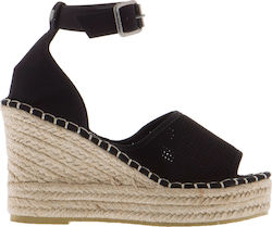 SUPERDRY W D2 ANNA WEDGE ESPADRILLE SHOES - GF1003YQ-02A BLACK