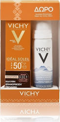 Vichy Ideal Soleil Tinted Anti Spot 3 in 1 SPF50+ & Eau Thermale Spring Water