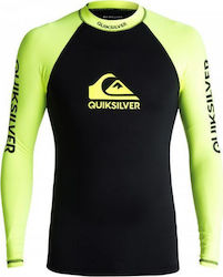 RASHGUARD QUIKSILVER On Tour Long Sleeve UPF 50 Safety Yellow/Black