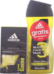 Adidas Pure Game Eau de Toilette 50ml & Shower Gel 250ml