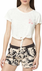 BILLABONG - Γυναικείο crop top BILLABONG CHILL SIDE λευκό