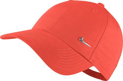 Nike Heritage Metal Swoosh Cap 340225-852 Orange