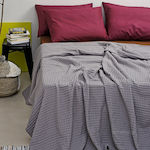 Melinen Κουβέρτα Πικέ King Size 240x270 Bristol Dark Grey