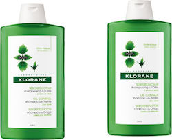 Klorane Oil Control Shampoo With Nettle 400ml x 2
