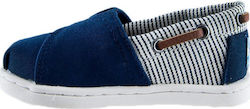 Toms Navy Canvas Stripes Tiny Biminis 10010048 Μπλε