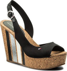 Tommy Hilfiger Wedge With Printed Stripes Black