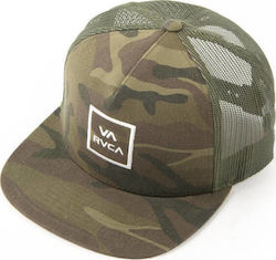RVCA Καπέλο VA ALL THE WAY TRUCK U5CPRU OLIVE CAMO