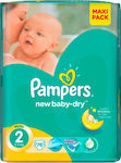 Pampers New Baby Dry No 2 (3-6kg) 76τμχ