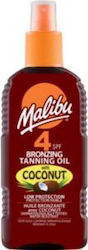 Malibu Bronzing Oil Coconut Oil SPF4 200ml