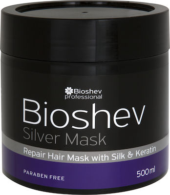 Bioshev Professional Silver Mask With Silk & Keratin 500ml