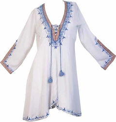 Dar Mode leila Tunic Άσπρο