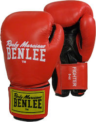 Benlee Boxing Gloves Fighter Leather 194006 Red/Black