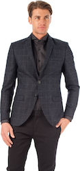 Selected Blazer Done-Mylodent3-Dark Grey (Σακάκια Ανδρικό Synthetic Polyester Dark Grey - 16056931 )