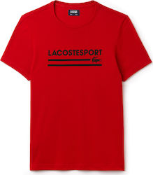 Lacoste Sport Lettering Technical Jersey Tennis Red