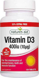 Natures Aid Vitamin D3 400iu 120 ταμπλέτες