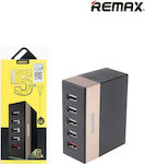 Remax 5x USB Charging Station Μαύρο (RU-U1)