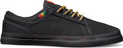 DVS AVERSA+ SHOES BLACK RASTA CANVAS