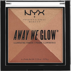 Nyx Professional Makeup Away We Glow Illuminating Powder Brick Road 8.76gr