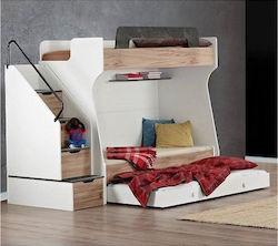 b7372a01540 Compact Fenomen Κουκέτα Λευκή/Μπεζ με Συρόμενο Κρεβάτι