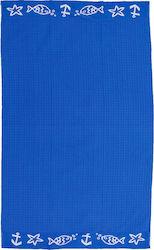 Pennie Πετσέτα Θαλάσσης 80x160 Piscis Μπλε 7a3f758418d